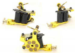 REDLINE SHADER YELLOW GUN TATTOO MACHINE